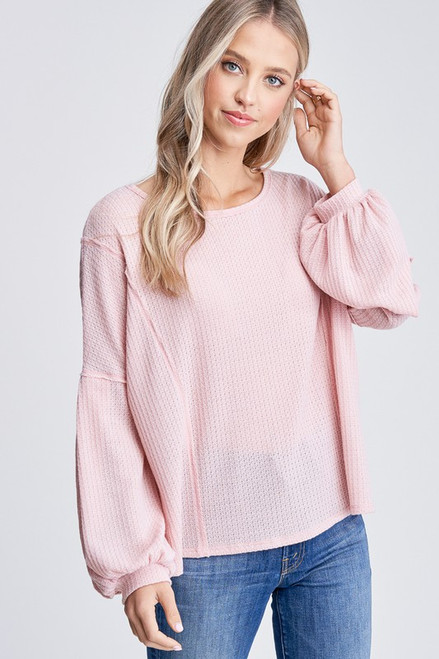 New Beginnings Knit Top In Pink