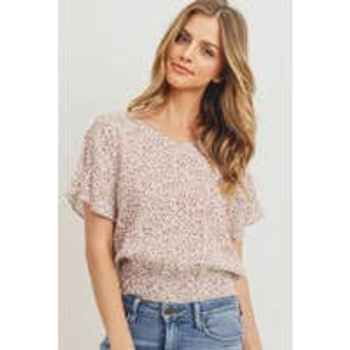 Lovely Leafy Smock Top