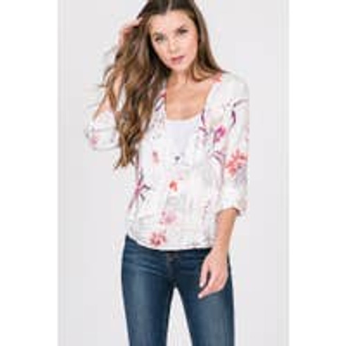 Wrap Me Up In Florals Wrap Top