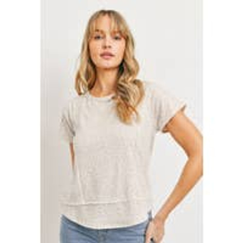 Lovely Leopardess Top in Taupe