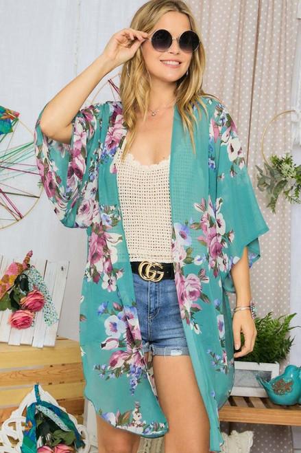 Feeling Fresh Floral Kimono