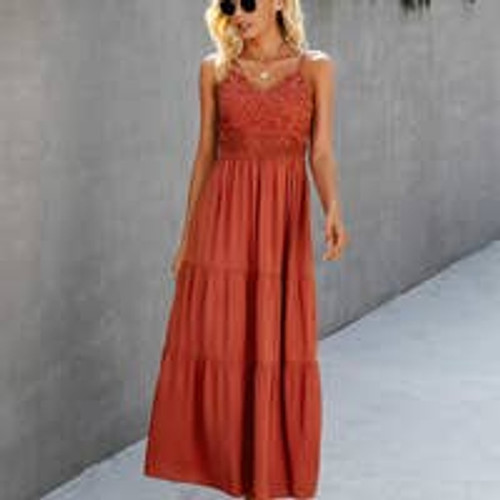 Lacy Up Top Long Dress