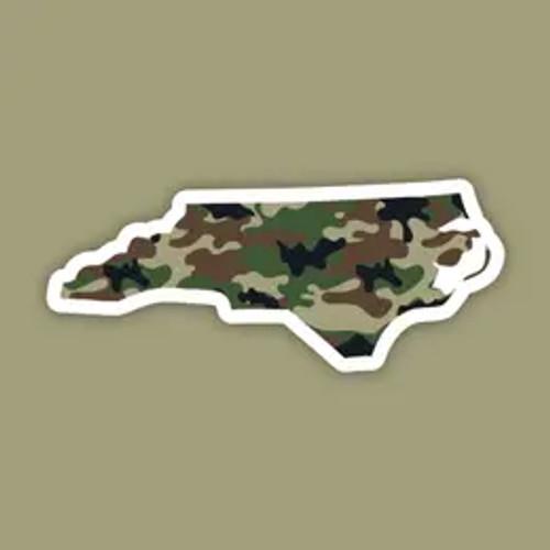 North Carolina Camo Sticker