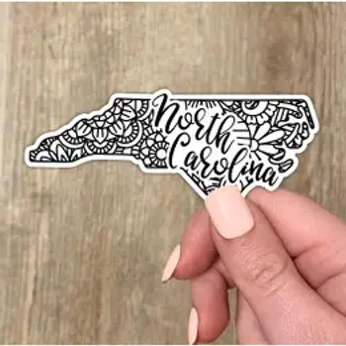 North Carolina Mandala Sticker