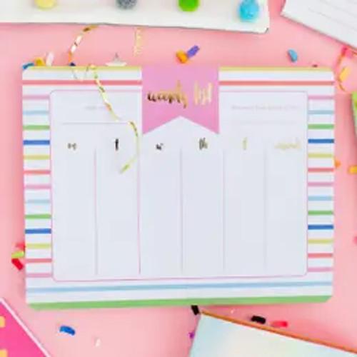 Weekly List Pad Planner