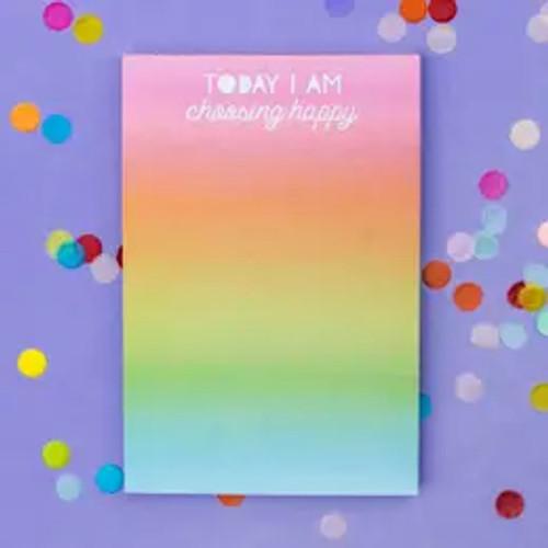 Choose Happy Notepad