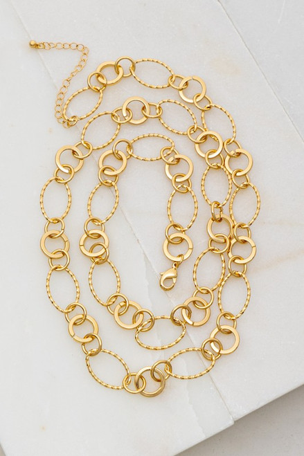 Linked Together Necklace in Gold