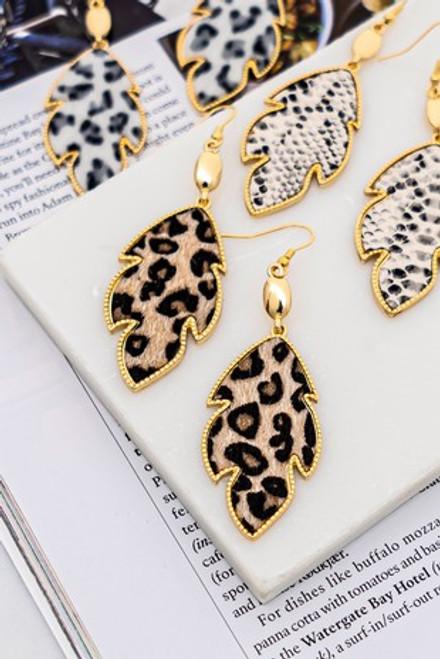 Leafy Animal Earrings