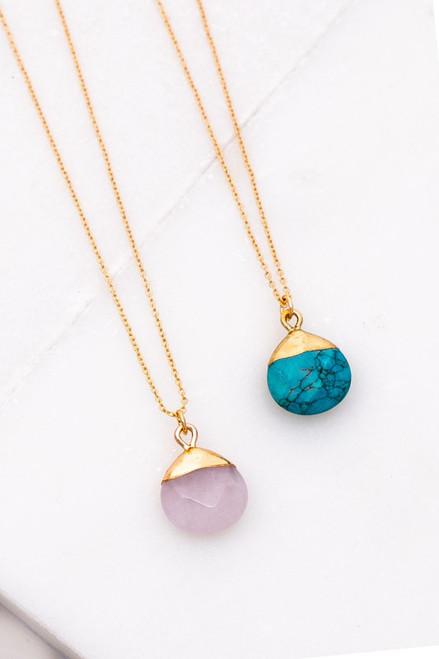 Teardrop Of Stone Necklace