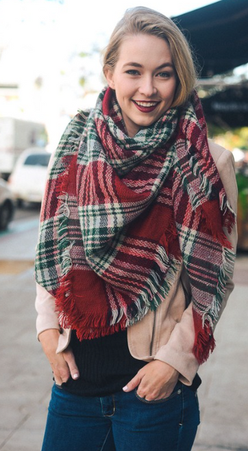 Cozy Christmas Blanket Scarf