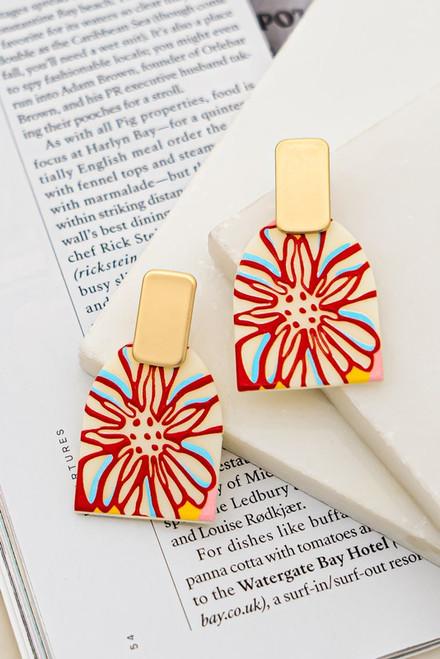 Abstract Flower Earrings