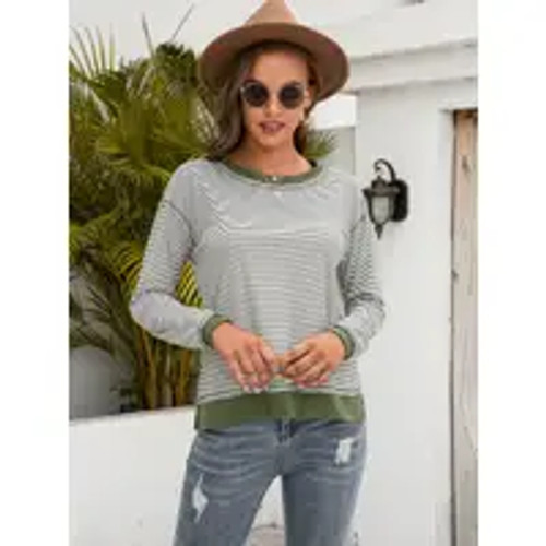 In The Lines Long Sleeve Top