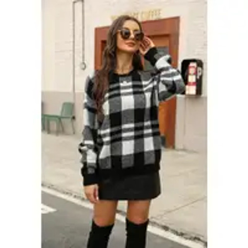 Checked Out Plaid Sweater