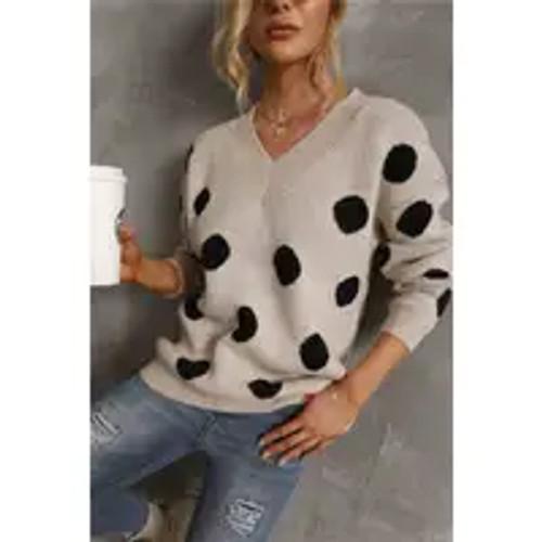 Making Moves Polka Dot Sweater