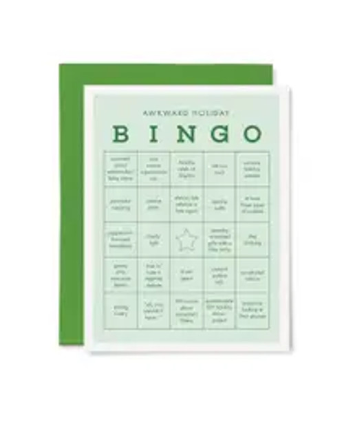 Awkward Holiday Bingo Card