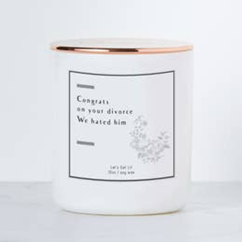 Congrats On Your Divorce Candle