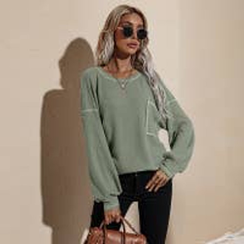 New Beginnings Knit Top In Olive