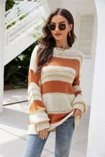 Wrap Me Up In Gold and Orange Oversized Sweater