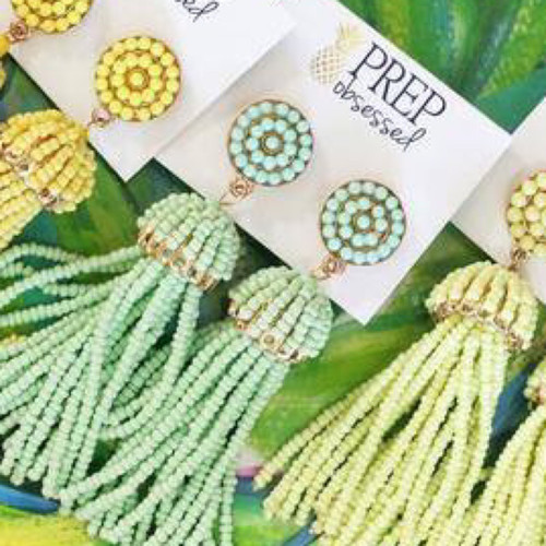 Mint To Be Tassel Earrings