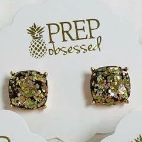 Confetti Sparkle Stud Earrings - Gold