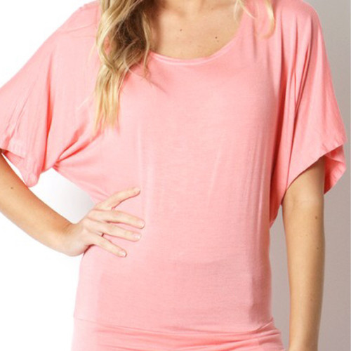 Don't Doubt The Dolman Top In Peach