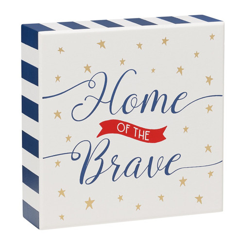 Home of the Brave Wood Sign FINAL SALE
