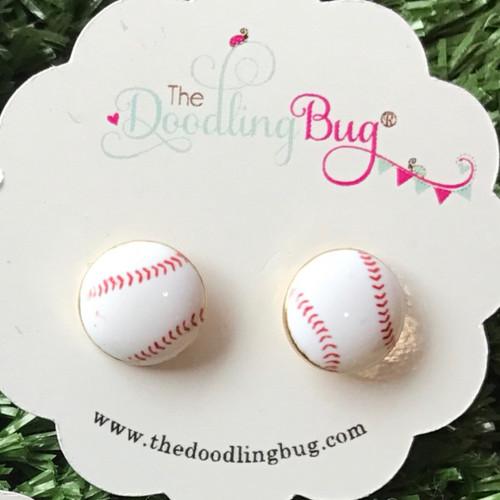 Bases Loaded Baseball Earrings