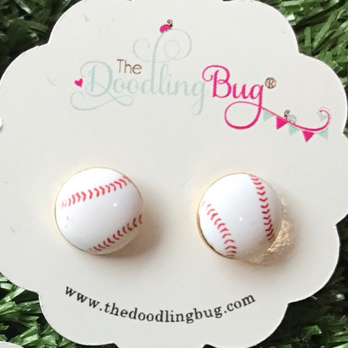 Bases Loaded Baseball Earrings
