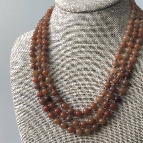 Bring On The Beads Necklace in Pumpkin Spice