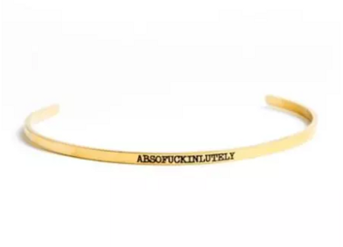 Absofuckinlutely Bangle In Gold