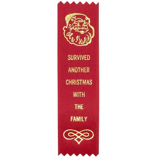 Survived Another Christmas With The Family Participation Ribbon