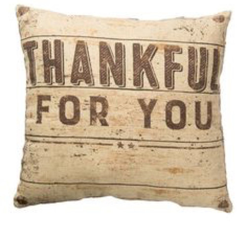 Thankful For You Pillow
