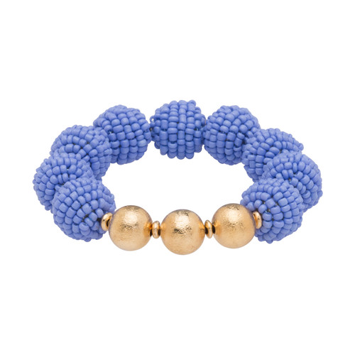 Arm candy never looked so good as it does with our Seed Bead Ball Stretch Bracelet. Wear one, or stack them for a bolder look! Bracelet is approximately 3 inches in diameter, unstretched. One size fits most. Features gold accents. Nickel and Lead free.