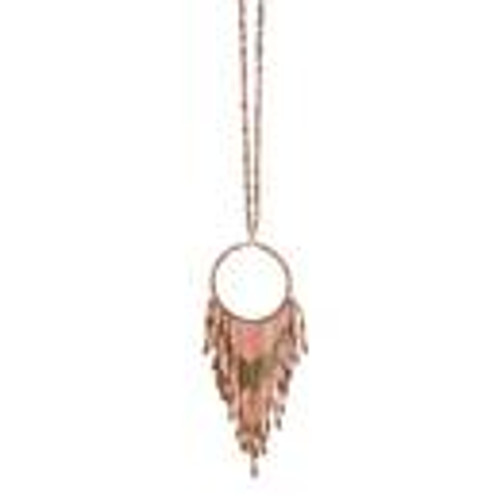 Fun Fringe Necklace In Blush FINAL SALE