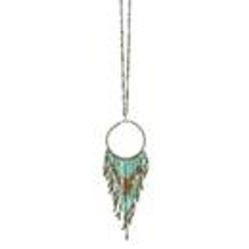 Fun Fringe Necklace in Mint