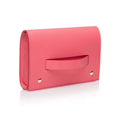 Hand Clutch in Coral