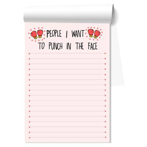 People I Want To Punch Notepad