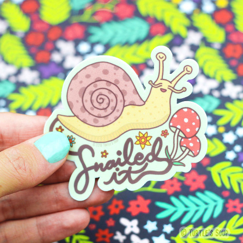 Snailed It Snail Vinyl Sticker