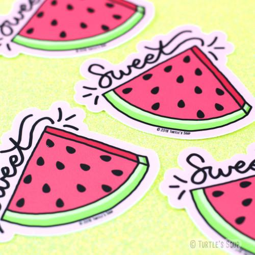 Sweet Watermelon Vinyl Sticker