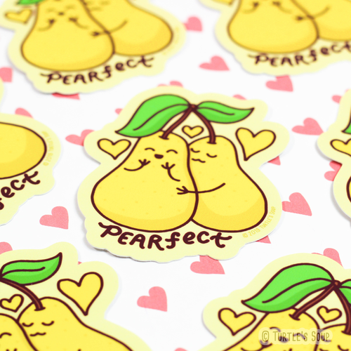 Pearfect Fruit Puns Vinyl Sticker