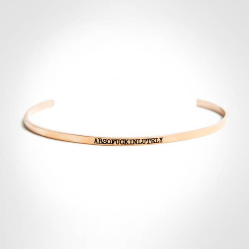 Absofuckinlutely Bangle In Rose Gold