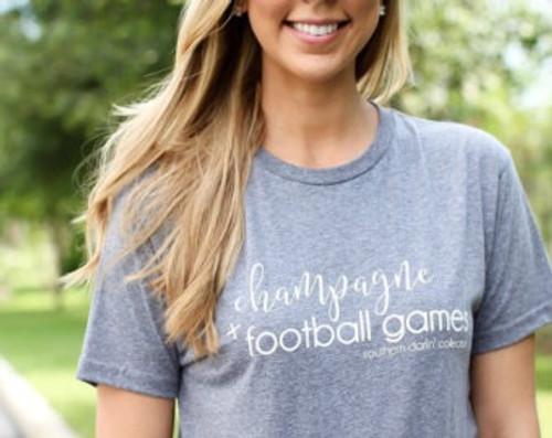 Champagne + Football Games T-Shirt