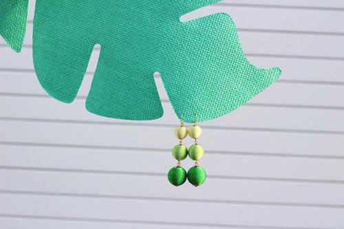 Green Ombre Lantern Dangle Earrings