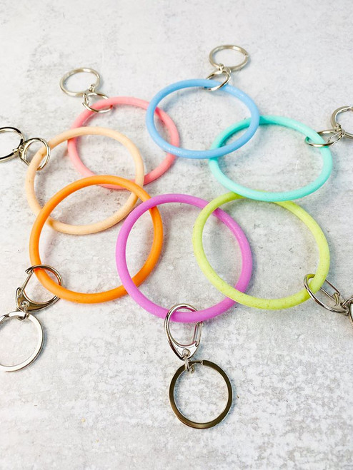 Dainty Key Ring In Coral