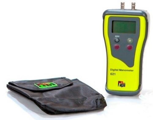 TPI 621 Dual-Input Digital Manometer With Carrying Case Included Plumbing Supplies