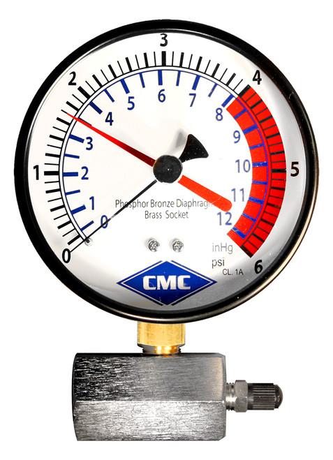 Certified Diaphragm Test Gauge (1-6) Plumbing Supplies Pressure Gauge