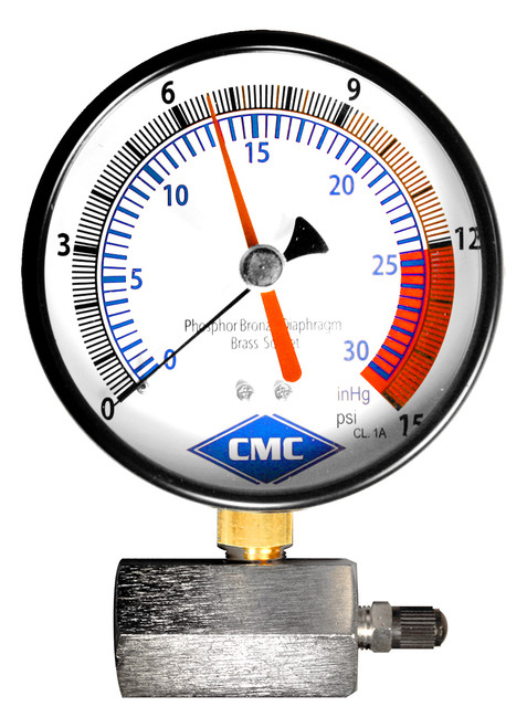 Certified Diaphragm Gas Test Gauge (1-15) (SKU 6006C) Plumbing Supplies Pressure Gauge
