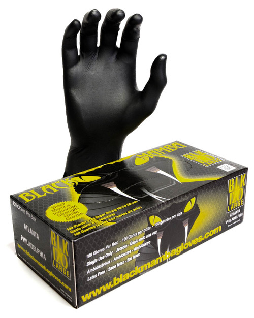 Black Mamba Disposable Nitrile Gloves • XXL Plumbing Supplies Tankless Parts