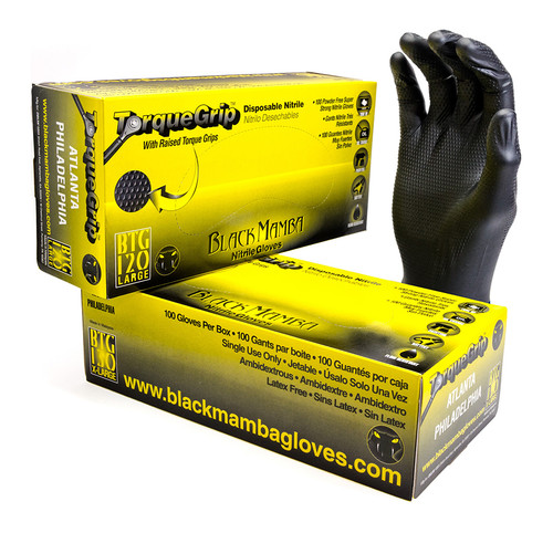 Black Mamba Torque Grip Gloves • MEDIUM Plumbing Supplies Tankless Parts