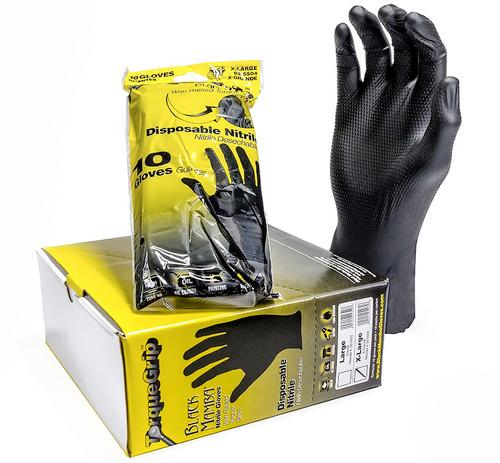 Black Mamba Torque Grip Gloves: Retail Hang Pack / Bin Box • LARGE Plumbing Supplies Tankless Parts